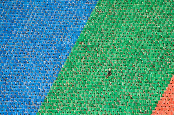 Even during the Arirang Mass Games in North Korea, the ultimate expression of the state ideology, an individual can still sometimes stand out from the crowd and break free of the collective. If only just for a moment. (Photo and caption by Brendyn Zachary).