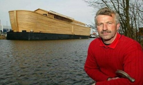 The builder of the Ark, Johan Huibers.