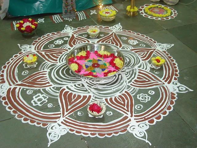 Rangoli With Panai With Pulli With Dots Kolam | Search Results ...
